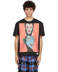 Charles Jeffrey LOVERBOY Black & Pink Artwork T-shirt - Multicolour