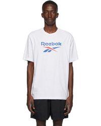 Reebok グレー Classic Vector T シャツ - ホワイト
