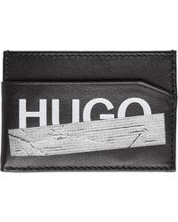 HUGO ブラック Tape カード ケース