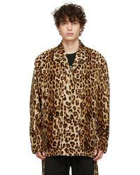 MASTERMIND WORLD Blouson chemise à motif léopard - Marron