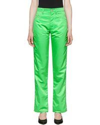 Kwaidan Editions - Green Contrast Biker Trousers - Lyst