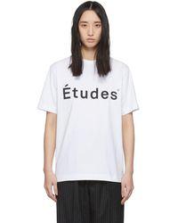 Etudes Studio - ホワイト Wonder ロゴ T シャツ - Lyst