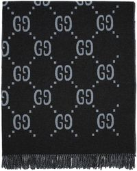 Gucci - Poncho reversible gris GG - Lyst
