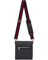 Gucci Black Small GG Supreme Messenger Bag