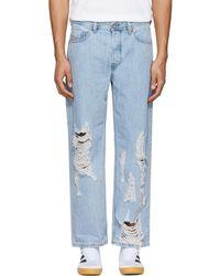 DIESEL - Blue Distressed Dagh Jeans - Lyst