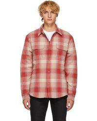 John Elliott - Red Check Quilted Lining Shirt - Lyst