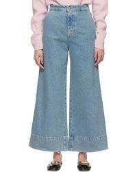 Loewe Indigo Flare Jeans - Blue