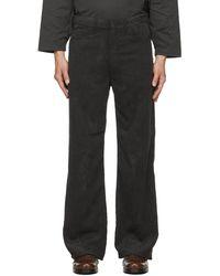 Sasquatchfabrix. Corduroy Flare 5 Pocket Pants - Black