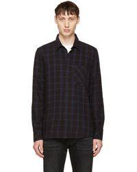 Nudie Jeans - Indigo Sten Window Check Shirt - Lyst