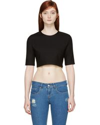 Filles A Papa - Black Cropped Top - Lyst