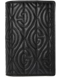 Gucci - ブラック G ランバス パスポート ホルダー - Lyst