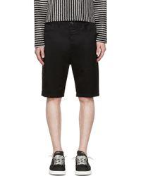 Diesel Black Gold Black Twill Shorts