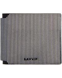 Lanvin Black & White Striped Wallet