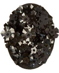 Simone Rocha - Black Beaded Cluster Brooch - Lyst