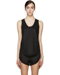 Denis Gagnon - Ssense Exclusive Black Linen Tank Top - Lyst