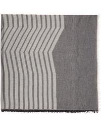 Thamanyah - Indigo & Grey Striped Dune Scarf - Lyst