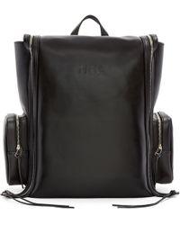 Hood By Air - Black Leather Deb Zip Backpack - Lyst