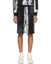 Hood By Air - Acid Rin Distressed Graphic-print Shorts - Lyst