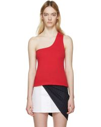 Jacquemus - Red Single-shoulder Marcel Top - Lyst