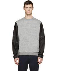 Mostly Heard Rarely Seen - Grey & Black Denim Sleeve Pullover - Lyst