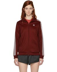 adidas Originals - Burgundy Bb Track Jacket - Lyst