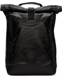 Diesel Black Gold - Black Coated Backpack - Lyst