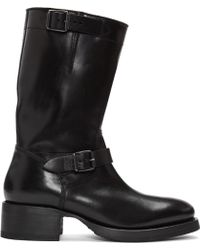 DSquared² - Black Leather Buckle Boots - Lyst