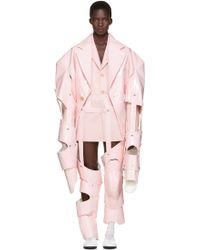 Comme des Garçons Cut-Out Vinyl Suit - Pink