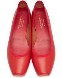 Junya Watanabe - Red Square Ballerina Flats - Lyst