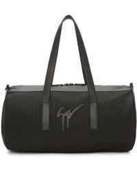 Giuseppe Zanotti - Black Canvas & Leather Duffle Bag - Lyst