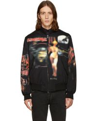 Givenchy - Black Heavy Metal Bomber Jacket - Lyst