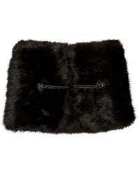 Carven - Black Faux-fur Collar - Lyst