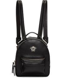 Lyst - Versace Medusa Mini Leather Backpack in Black 83e1e69e11