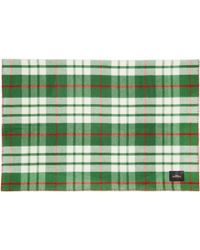 Undercover - Green Check Scarf - Lyst