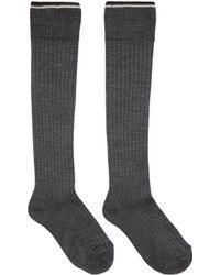 Isabel Marant - Grey Silk Zina Socks - Lyst