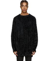 Diet Butcher Slim Skin - Black Oversized Shaggy Pullover - Lyst