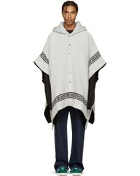 Palm Angels - Off-white & Black Skull Cape - Lyst