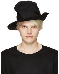 Attachment - Black Creased Hat - Lyst