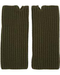 Hyke - Green Wool Wrist Warmers - Lyst