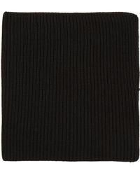 Hyke - Black Wool Neck Warmer - Lyst