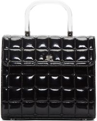 Courreges - Black Quilted Vinyl Box Bag - Lyst