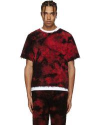 Haal - Ssense Exclusive Red Sun T-shirt - Lyst