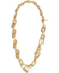 AMBUSH Gold padlock link necklace IS2mRxKi