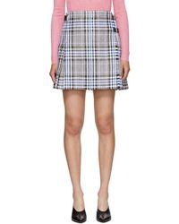Christopher Kane - Multicolor Woven Tartan Kilt Miniskirt - Lyst