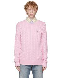 Polo Ralph Lauren ピンク ケーブル ニット セーター
