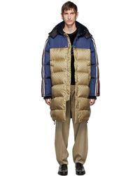 Gucci - Manteau en duvet et nylon multicolore GG - Lyst