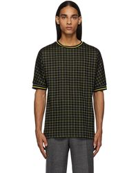 Paul Smith - Black & Yellow Tattersal Check T-shirt - Lyst