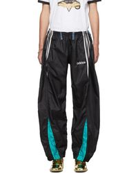 Bless Black And Blue Overjogging Jeans Track Trousers
