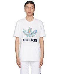 Noah Adidas Originals エディション ホワイト フローラル T シャツ