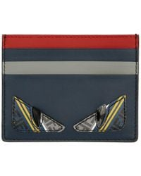 Fendi - Navy And Red Bag Bugs Card Holder - Lyst